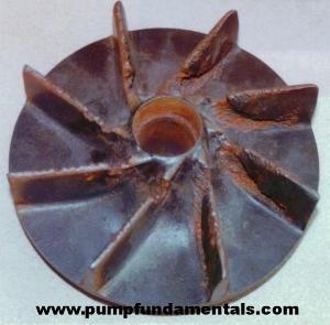 Suction Cavitation Damage Impeller