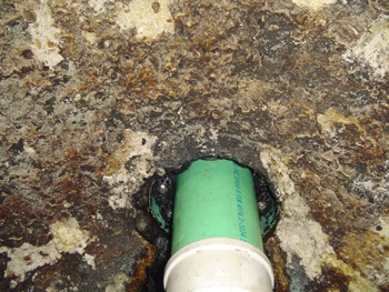 Deteriorated Wet Well Concrete