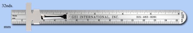 stainless steel ruler