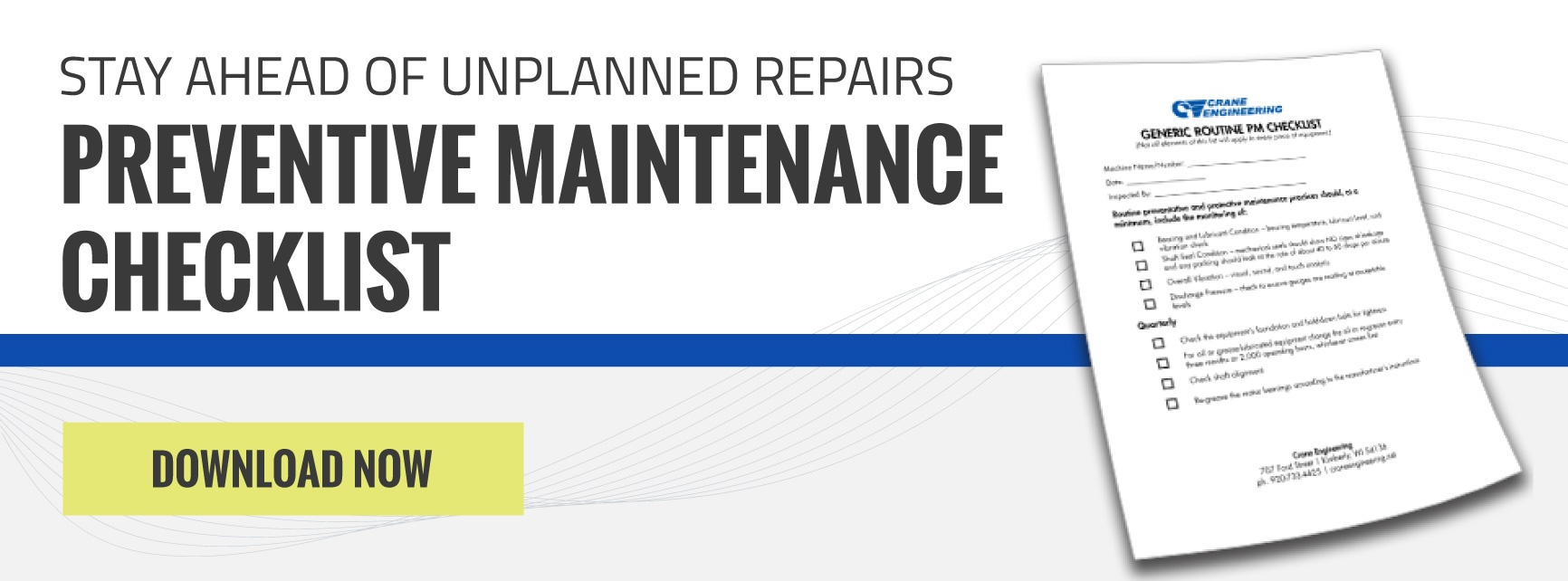 Stay ahead of unplanned repairs with the preventative maintenance checklist